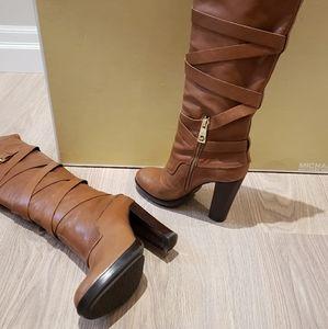 Cognac Knee Michael Kors boots 8.5